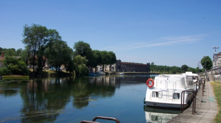 Boating on the River Charente at Jarnac