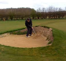 Golf in the bunker